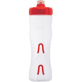 Fabric Cageless Drikkeflaske 750ml, clear/red